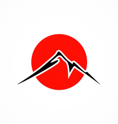 Japan mountain fuji abstract logo vector