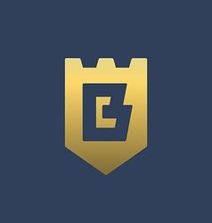 Letter b shield logo icon design template elements vector
