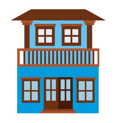light color silhouette of house with two floors vector image