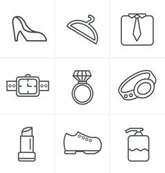 Line Icons Style Fashion Icons Set Design vector image
