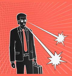 man in a business suit and telekinesis vector image