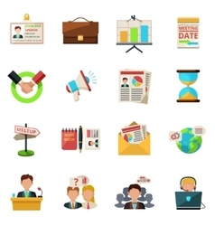 Meeting icons flat vector