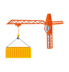 Moving the container with a tower crane moving vector