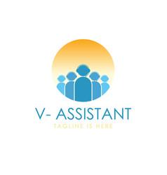 Operator virtual assistant logo vector