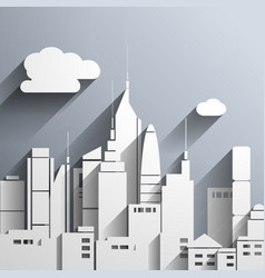 Paper-cut style city vector