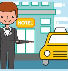 People hotel service vector