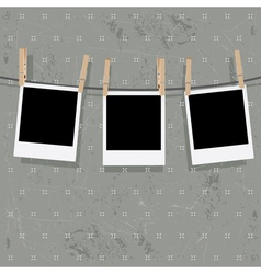 Photo Frames on Rope8 vector