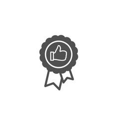Positive feedback simple icon award medal sign vector