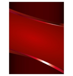 Red background with glossy elements vector image