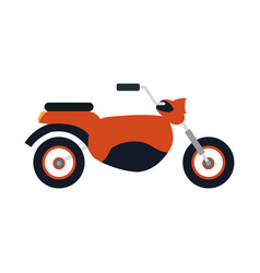 Red motorcycle icon vector