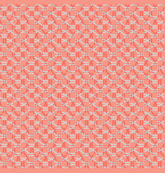 seamless abstract retro geometric pattern chain vector image