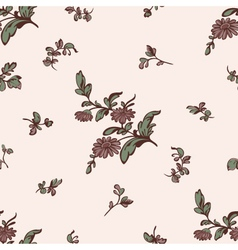 Seamless pattern brown flower vector