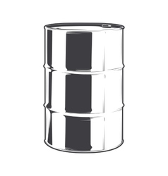 Steel oil barrel vector