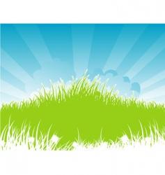 Summer back grass vector