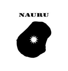 symbol of isle of nauru and map vector image