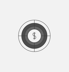 Target symbol icon for web in trendy style vector