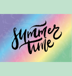text summer time for print t shirt souvenir vector image