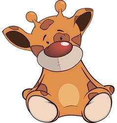 The stuffed toy giraffe cartoon vector