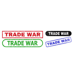 Trade war rectangle watermarks with unclean style vector