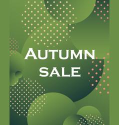 unique autumn geometric background with gradient vector image