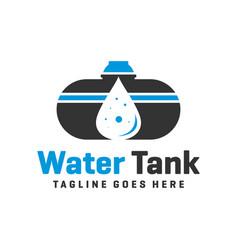 water tank logo or reservoir vector image