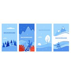 winter background landscape vector image