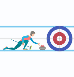 winter sport curling vector image