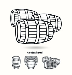Wooden barrel Design elements for labels vector