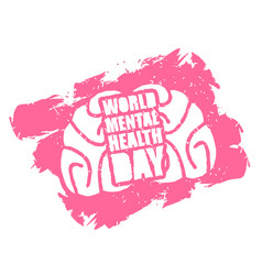 World mental health day emblem symbol of human vector