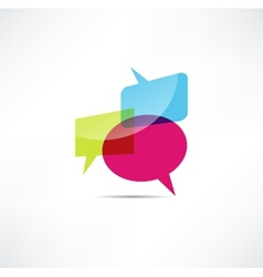 Bubbles icon vector image