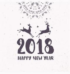 deer 2018 vector image