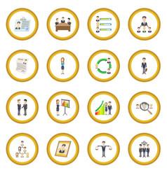 human resources icon circle vector image