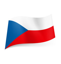 national flag of czech republic white and red vector image vector image