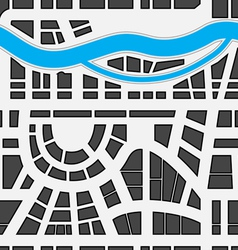 Seamless background of city map vector image