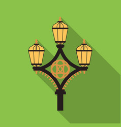 Street light icon in flat style isolated on white vector