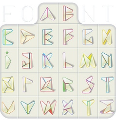 Triangulated Font vector image vector image