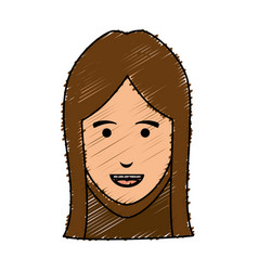 young woman avatar character vector image