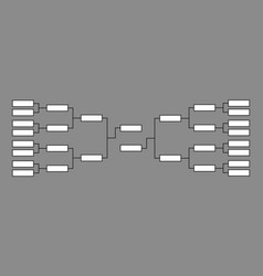 bracket basketball tournament vector image