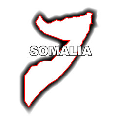 outline map of somalia vector image vector image