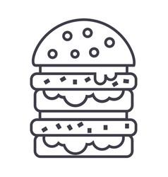 burgerhamburger line icon sign vector image vector image