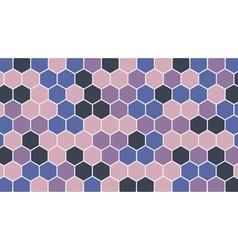 Colorful hexagonal geometric background vector image