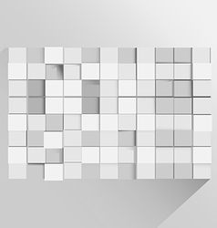 Cube Background Abstract Modern Wallpaper vector image