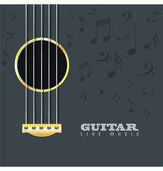 Guitar live music poster background vector image