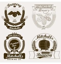 Beer logo Brewery craft label vector image