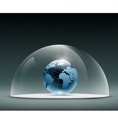 Earth under the dome vector image vector image