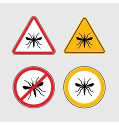 Mosquito icons set vector image vector image