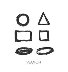 Set of grunge brush shapes strokes vector