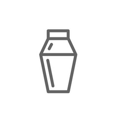 simple cocktail shaker line icon symbol and sign vector image