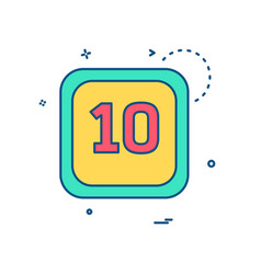 10 date calender icon design vector