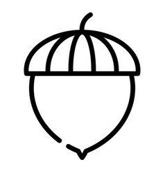 Acorn seed icon outline style vector